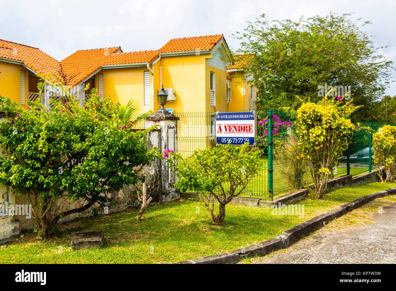 House for sale. Tropical island of Martinique. - Stock Image