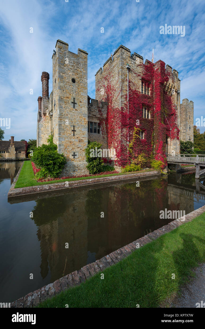 Hever Castle near Edenbridge, the seat of the Boleyn family, Kent, United Kingdom Stock Photo