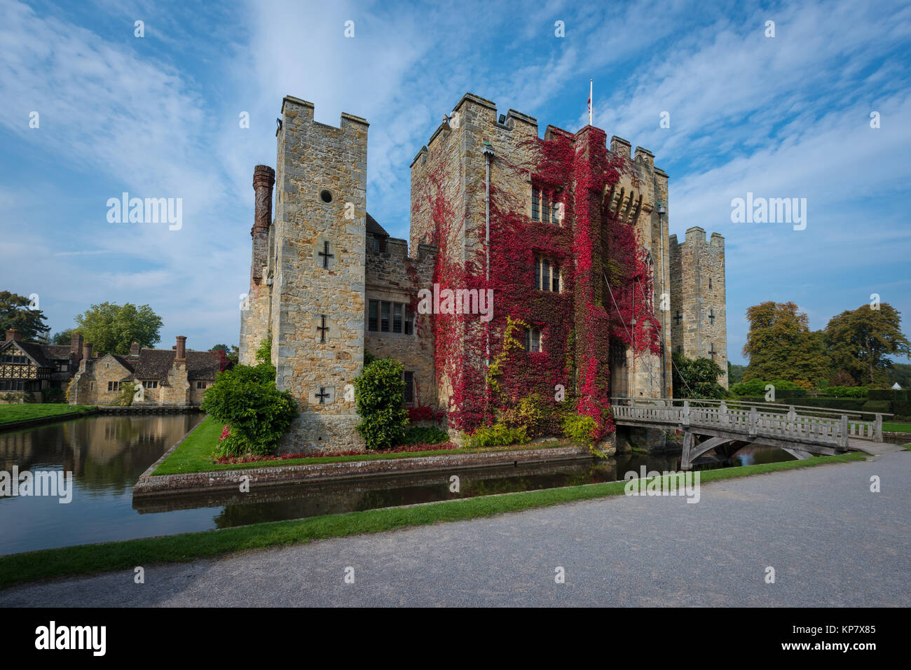 Hever Castle near Edenbridge, the seat of the Boleyn family, Kent, United Kingdom - Stock Image