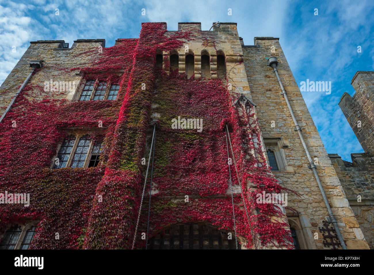 Hever Castle near Edenbridge, the seat of the Boleyn family, Kent, United Kingdom - Stock Image