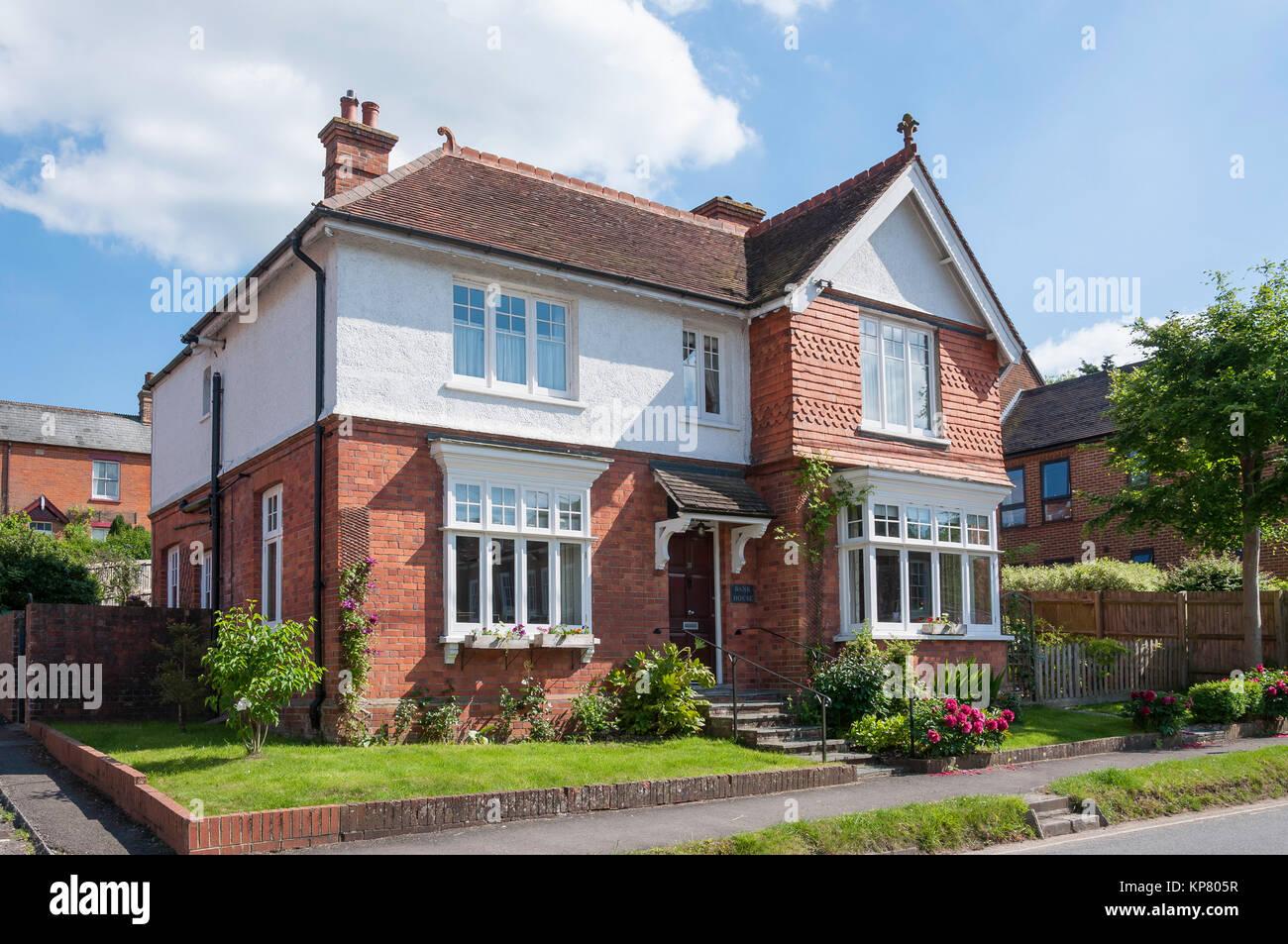 Large detached house, Swan Street, Kingsclere, Hampshire, England, United Kingdom - Stock Image
