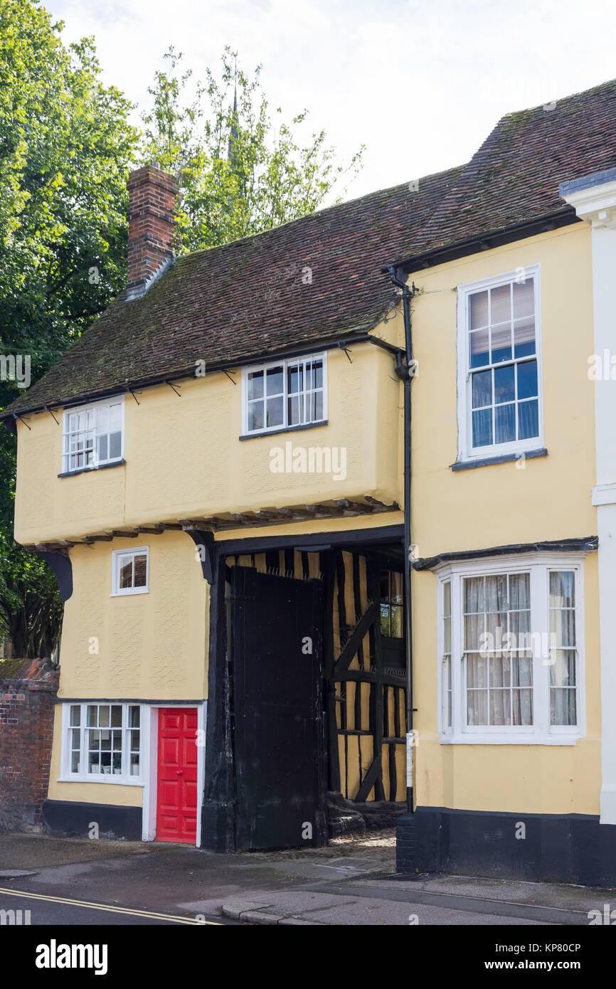 Tudor House, Church Street, Baldock, Hertfordshire, England, United Kingdom - Stock Image