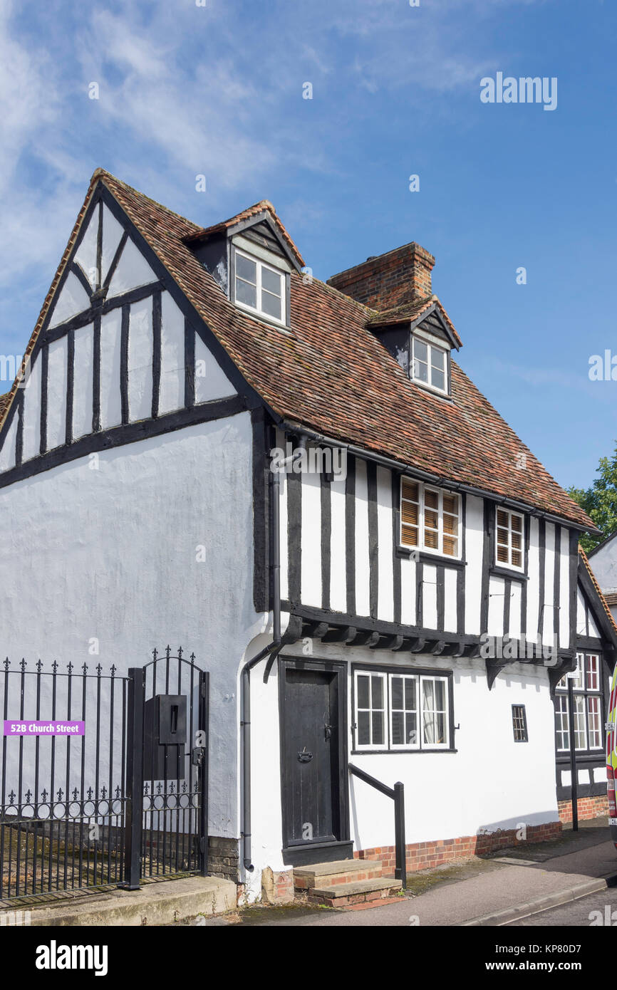 Timber-framed period house, Church Street, Baldock, Hertfordshire, England, United Kingdom - Stock Image