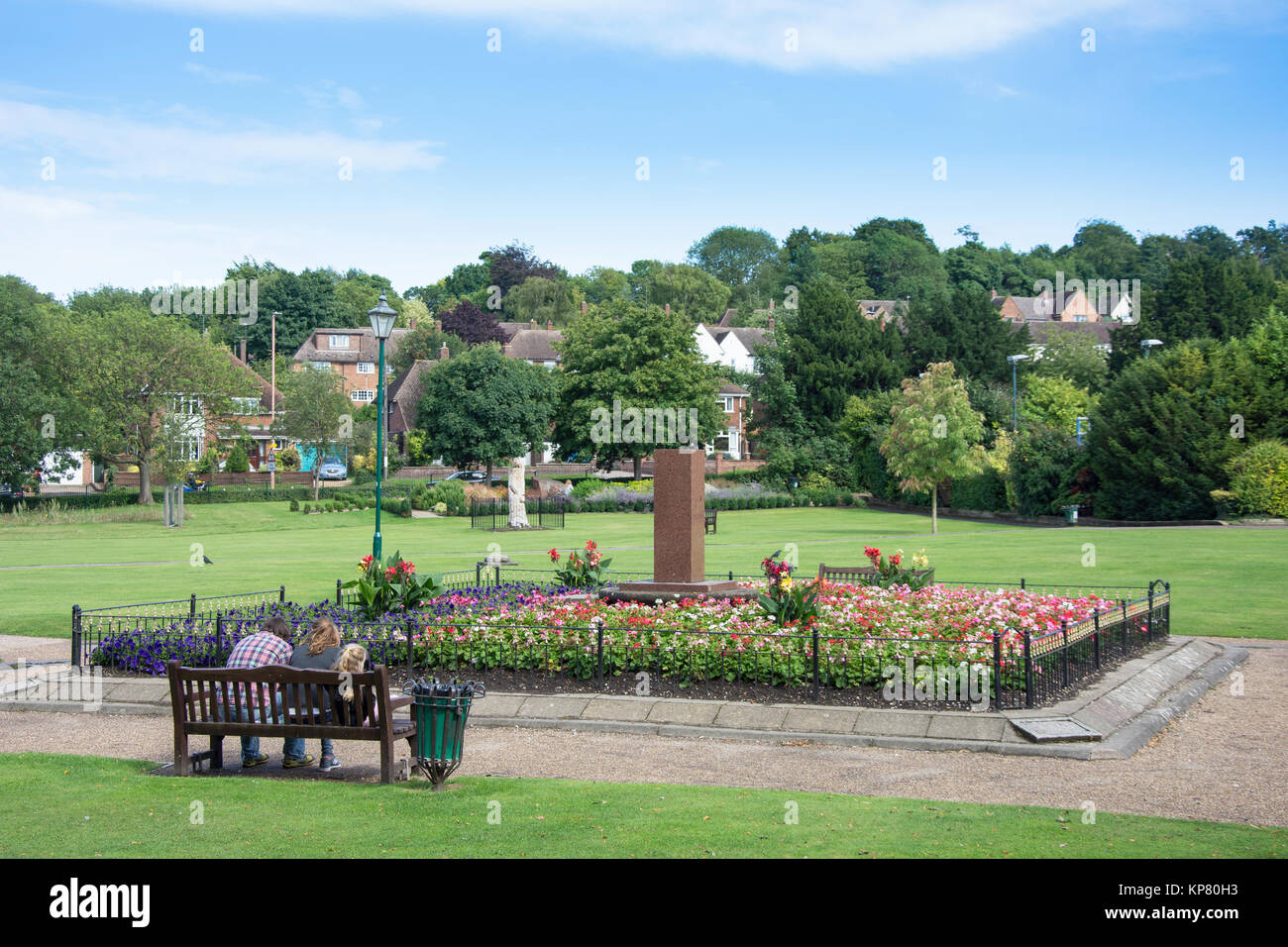 Priory Memorial Gardens, Melbourn Street, Royston, Hertfordshire, England, United Kingdom - Stock Image