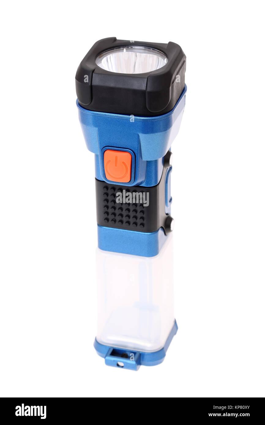 electric pocket flashlight - Stock Image
