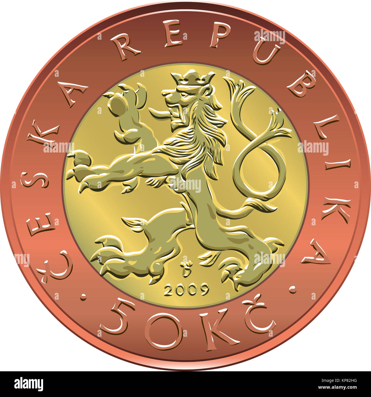 Gold Plated Coin Stock Photos & Gold Plated Coin Stock