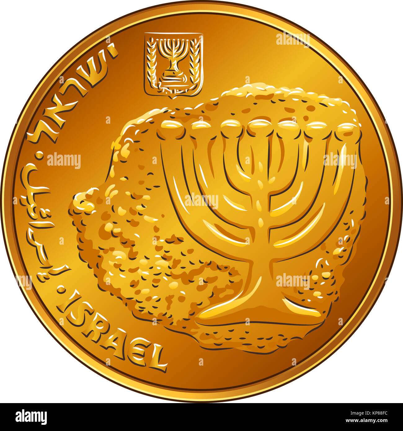 Shekel Coin Gold Stock Photos Shekel Coin Gold Stock Images Alamy