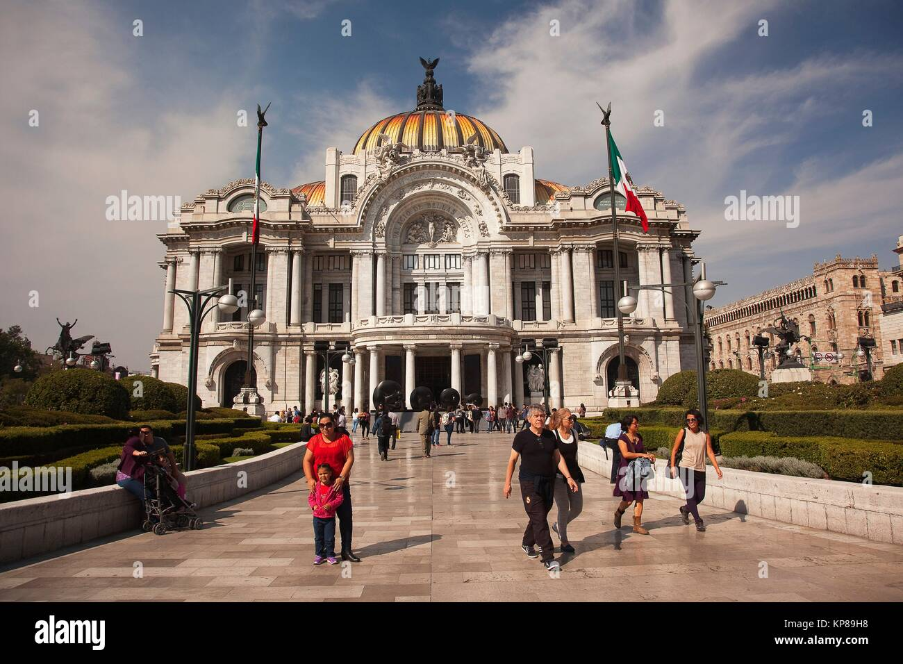 View to the Palacio de Bellas Artes-Fine Arts Museum in the city center, Mexico City, Mexico, Central America. Stock Photo