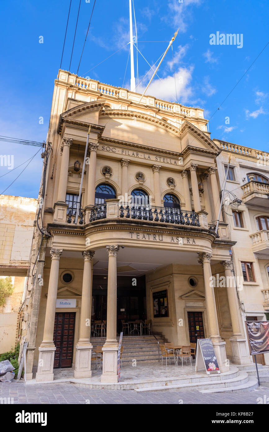 Teatru Astra Theatre, Victoria, Gozo, Malta. Stock Photo