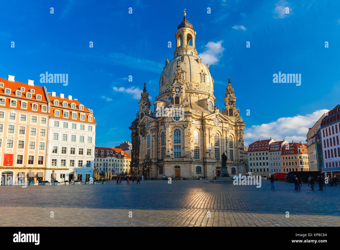 Frauenkirche in the morning, Dresden, Germany - Stock Image