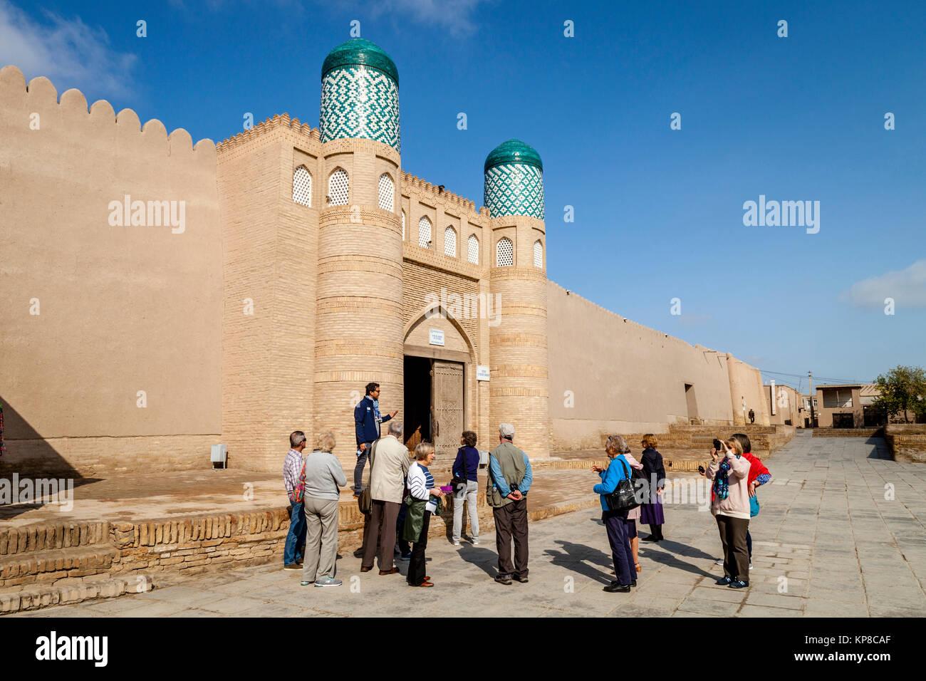The Entrance To The Kunya Ark Fortress, Khiva, Uzbekistan - Stock Image