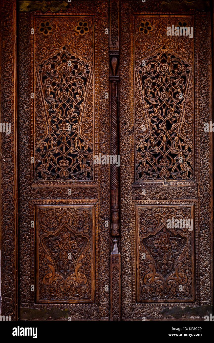 An Exquisitely Carved Wooden Door Inside The Kunya Ark Fortress khiva Uzbekistan - Stock & Wooden Ark Stock Photos \u0026 Wooden Ark Stock Images - Alamy
