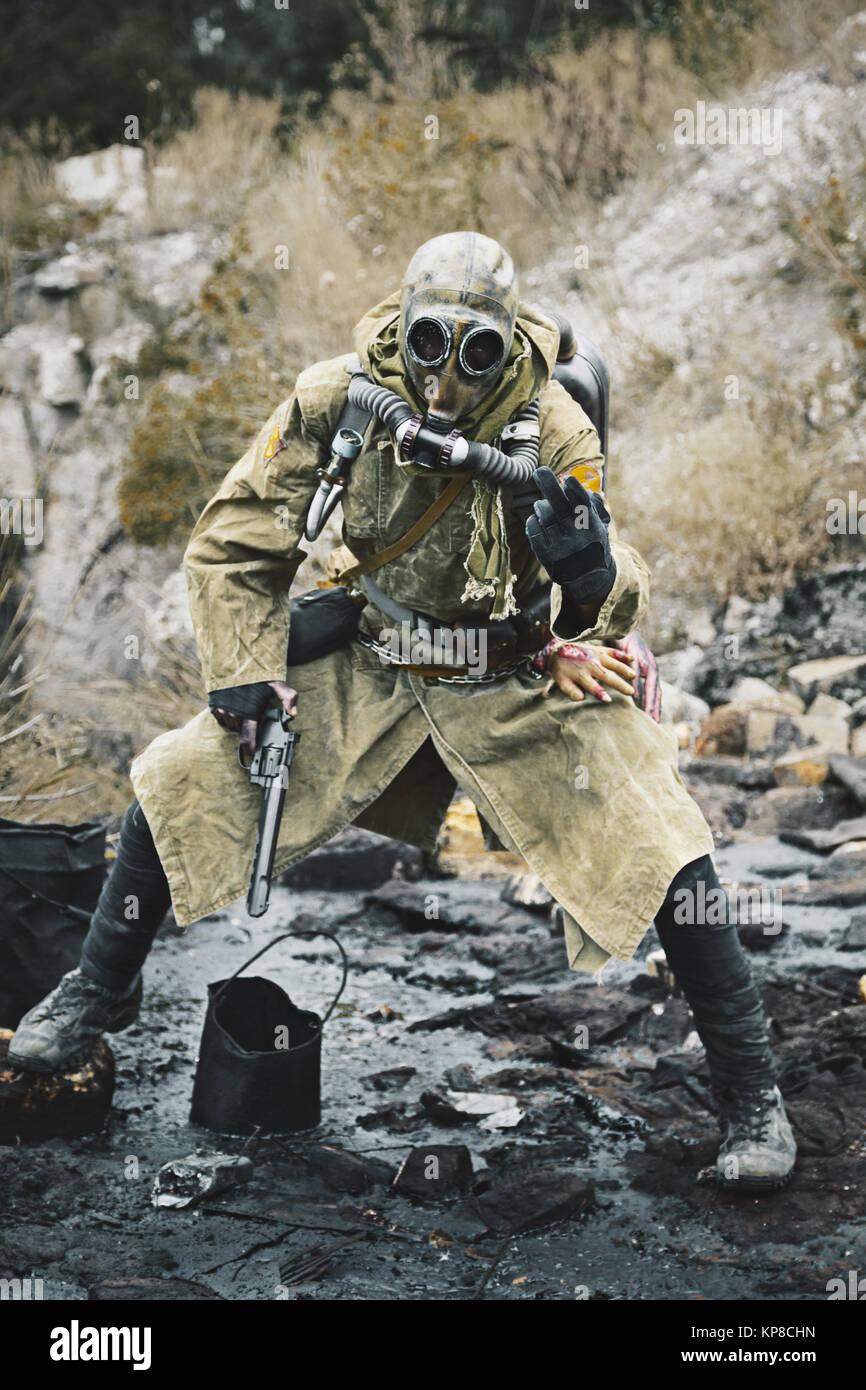 Nuclear apocalypse survivor - Stock Image