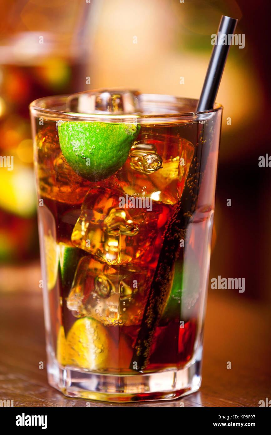 Cocktails Collection - Cuba Libre,Cocktails Collection - Cuba Libre,Cocktails Collection - Cuba Libre,Cocktails - Stock Image
