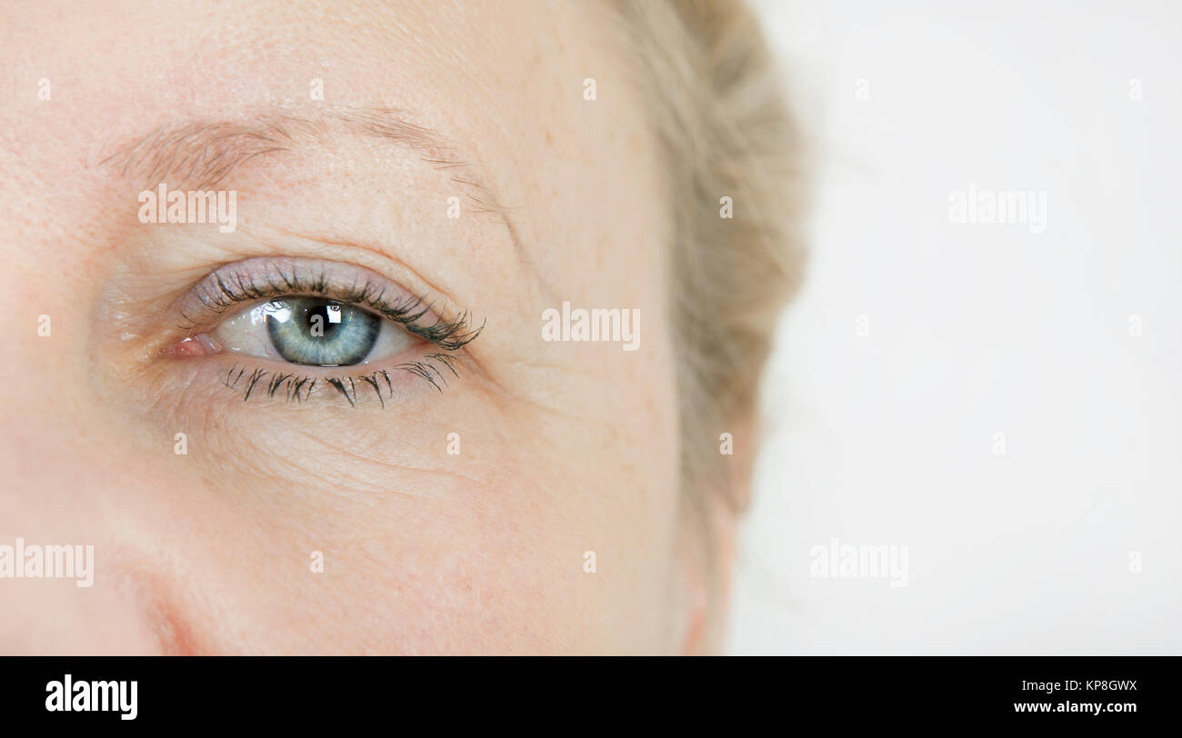 eye elderly woman - Stock Image