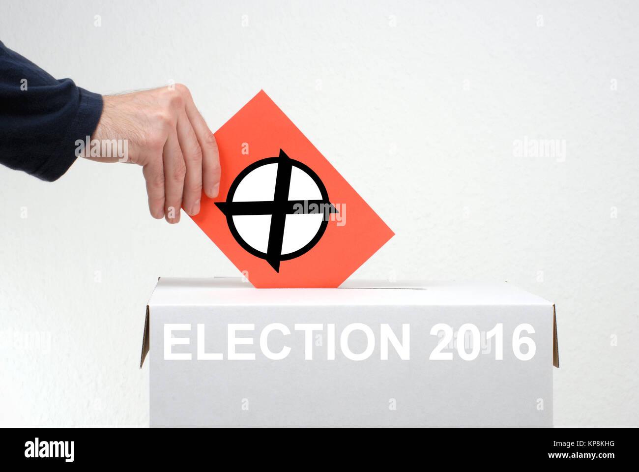 election 2016 - Stock Image