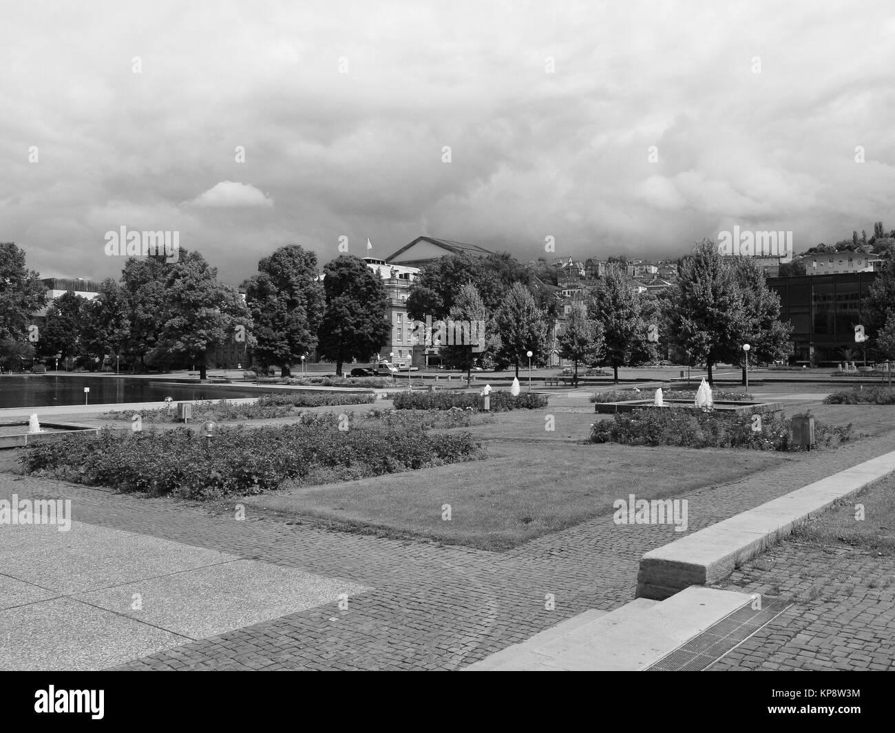 The Oberer Schlossgarten park in Stuttgart, Germany - Stock Image