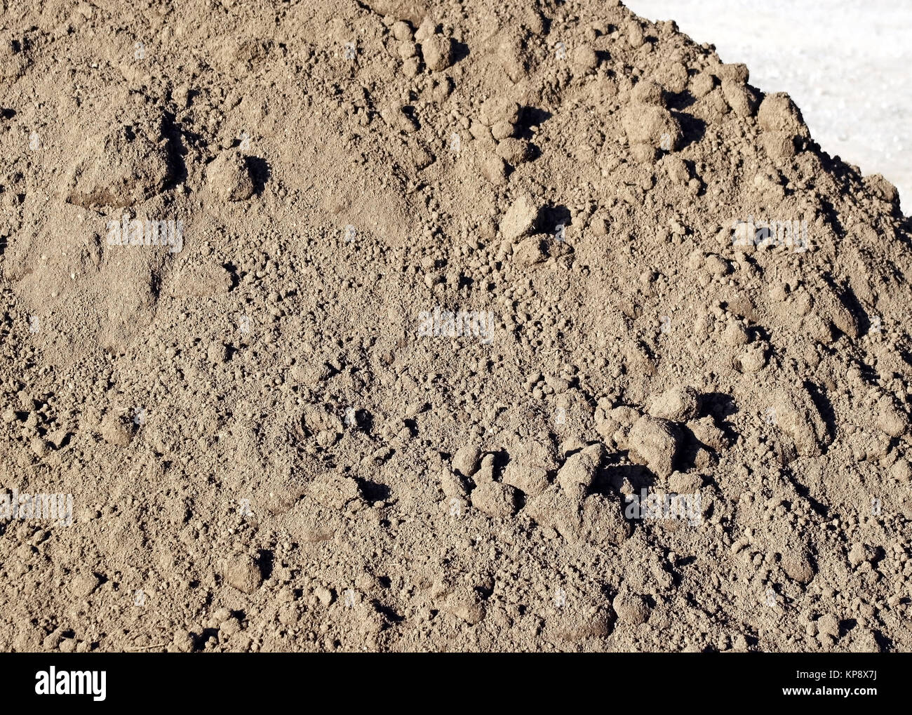 Close up of dirt pile - clean fill - Stock Image
