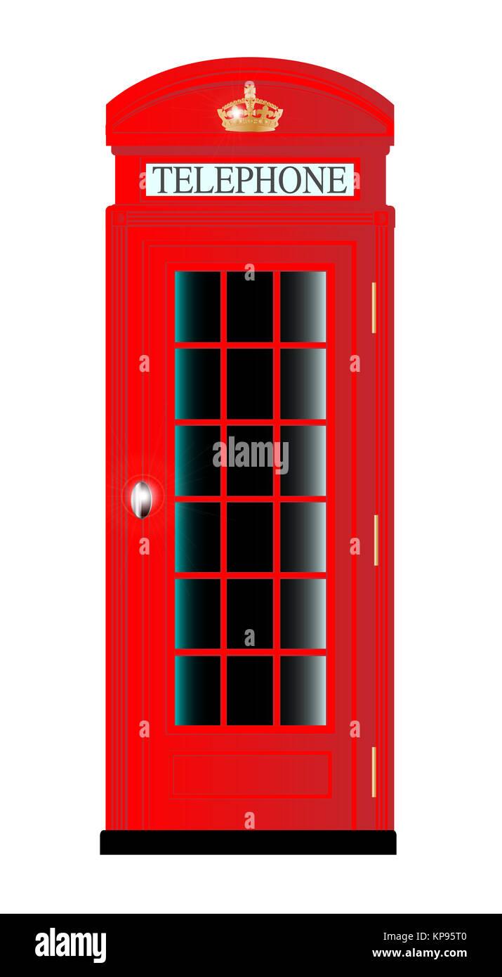 UK Telephone Box - Stock Image