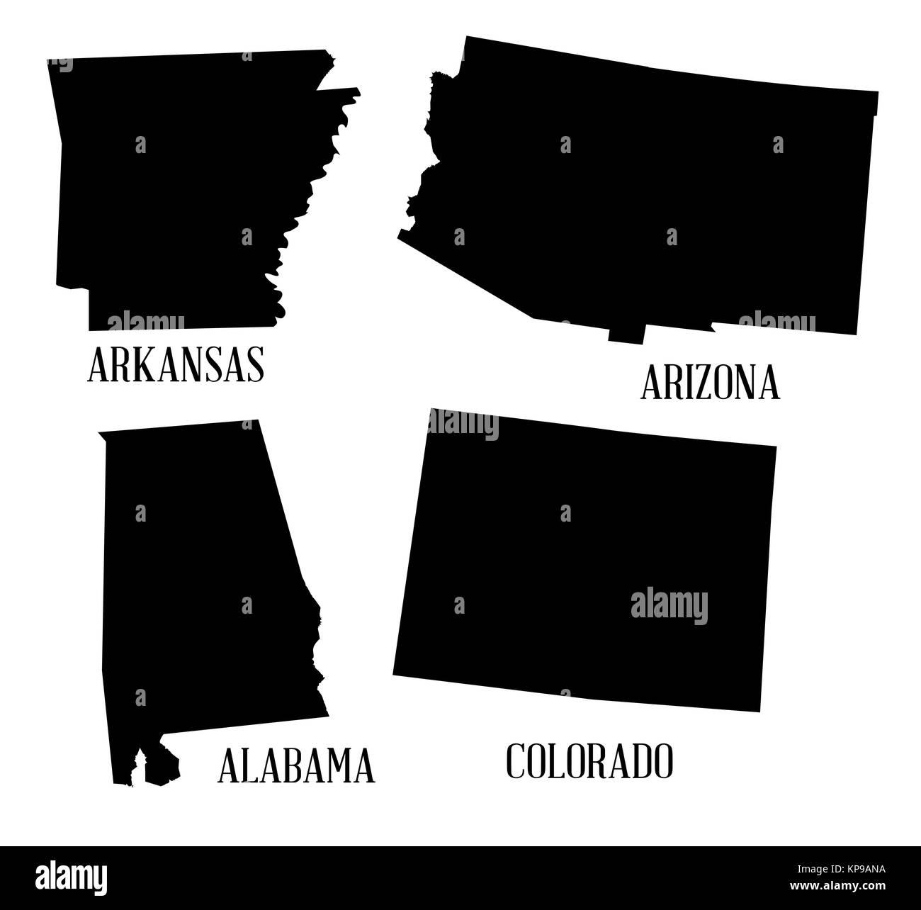 Colorado Map Outline Black And White Stock Photos Images Alamy