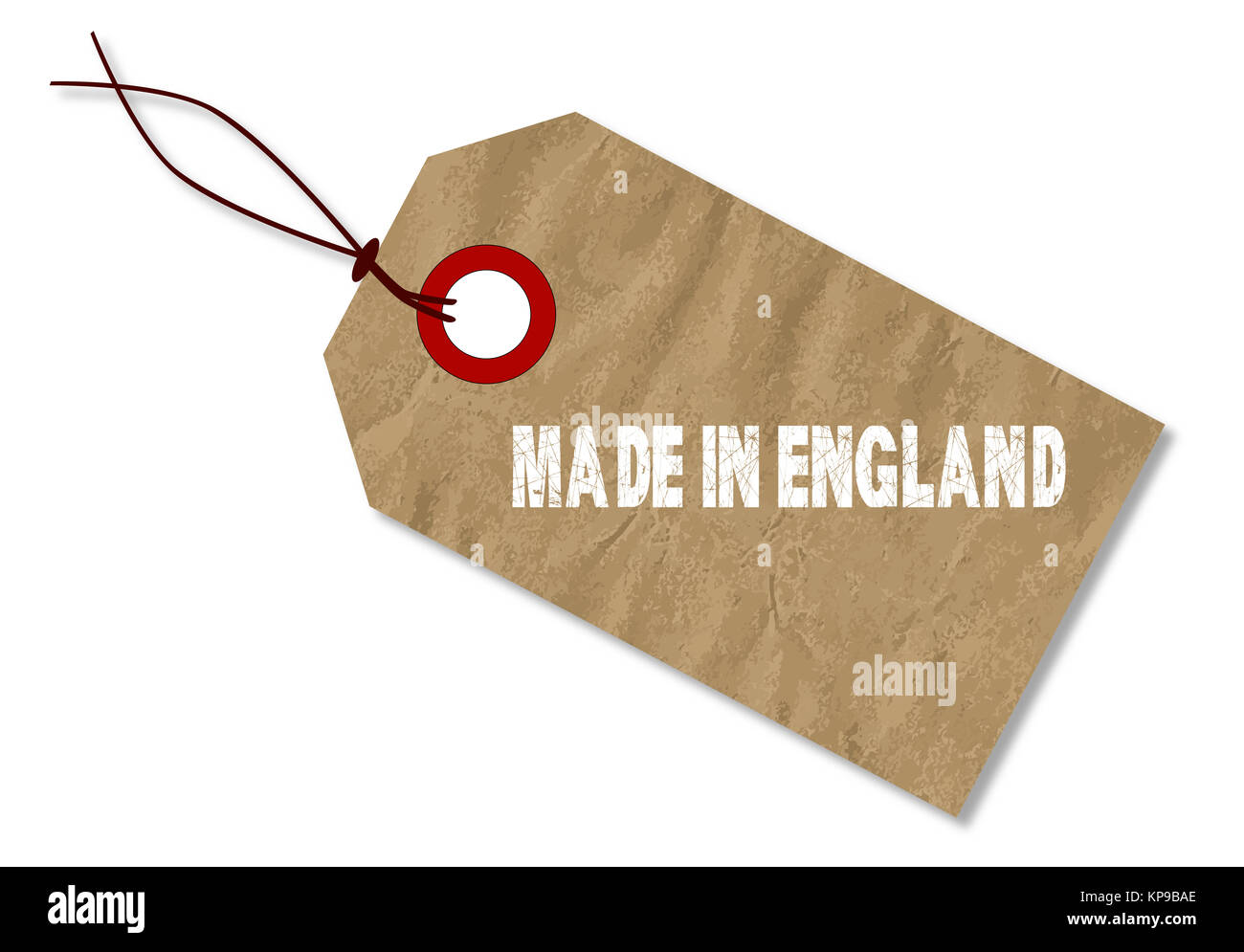 Made In England Tag - Stock Image