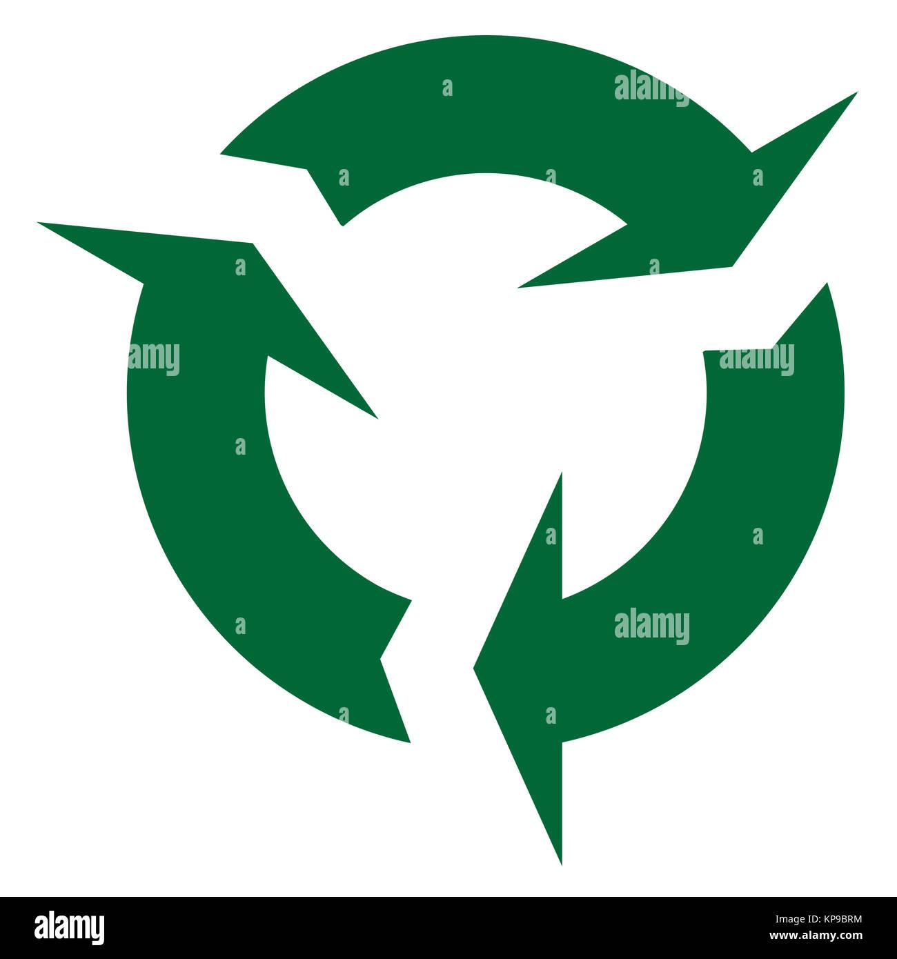 Circular Recycle Sign Stock Photo
