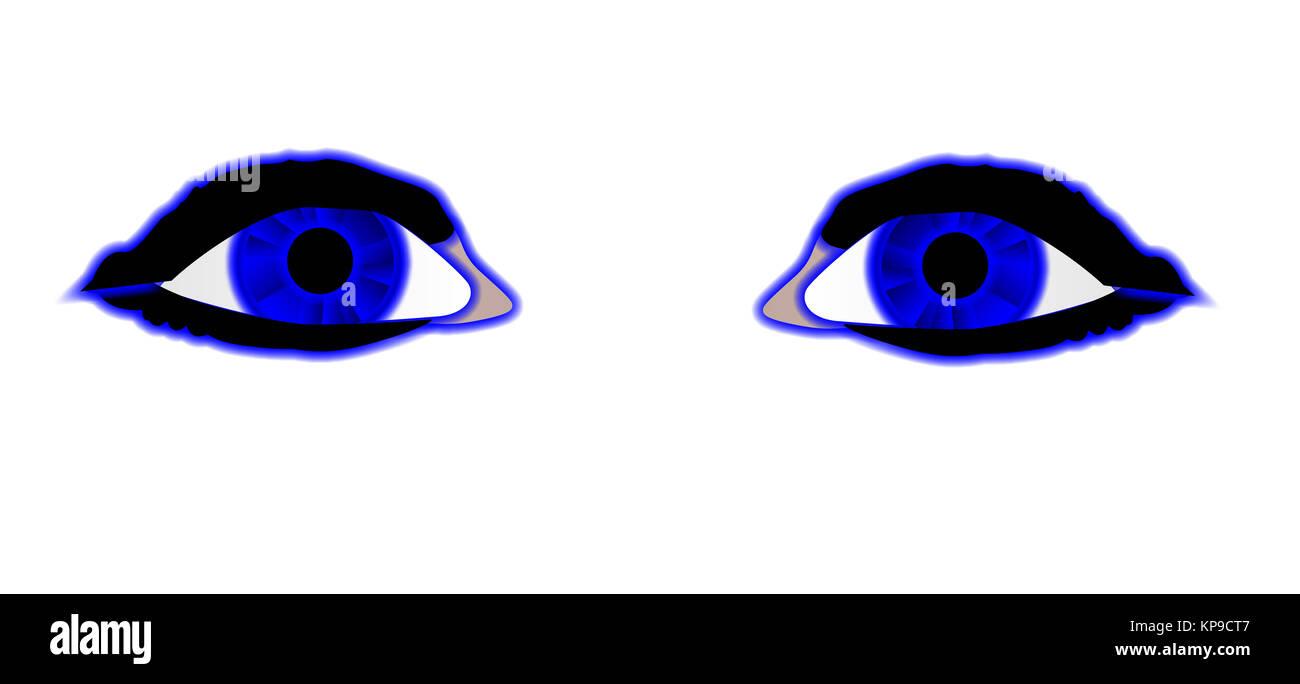 drawing pair blue eyes stock photos drawing pair blue eyes stock
