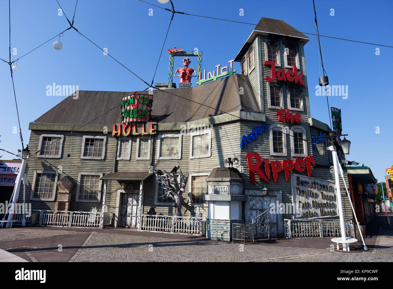 Jack The Ripper House Of Horror In Prater Amusement Park, Vienna City,  Austria, Europe