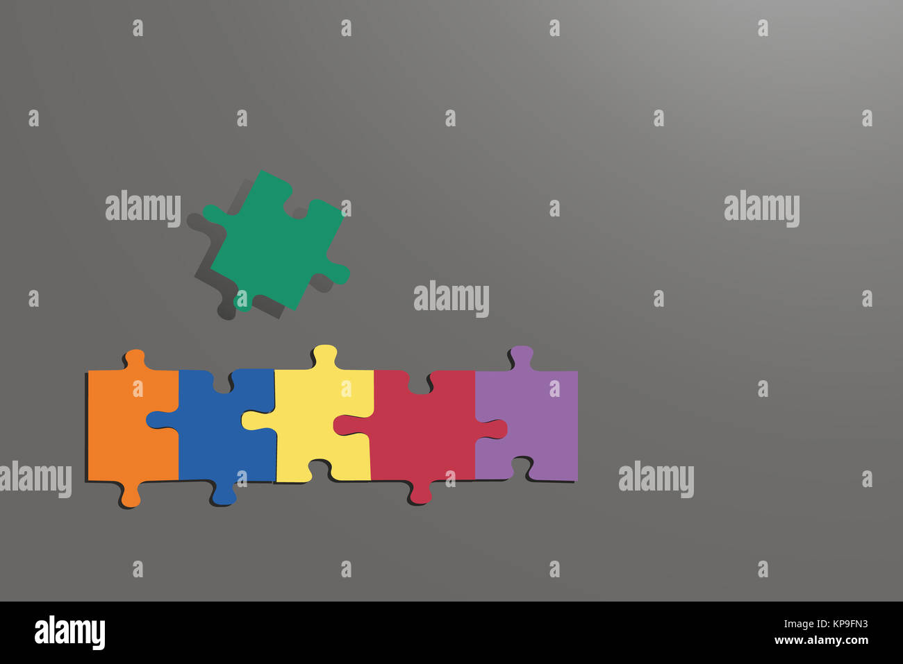 Jigsaw Puzzle Infographic Template Stock Photos & Jigsaw Puzzle ...