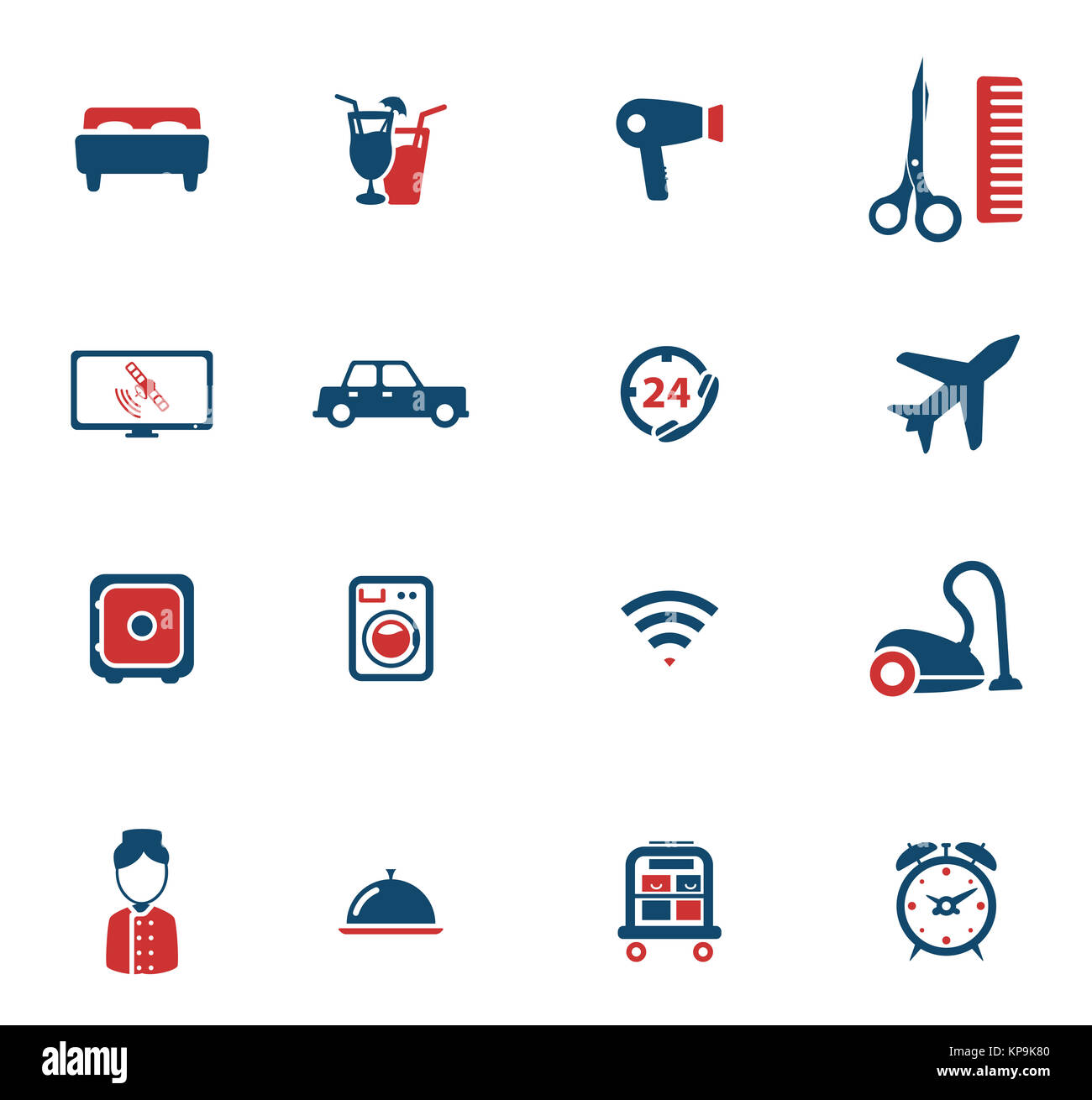 Hotel simply icons - Stock Image