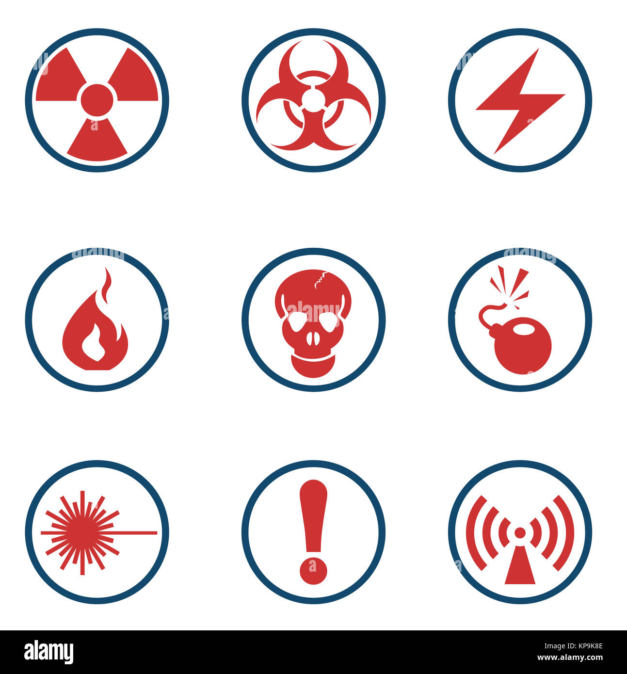 Vector radiation symbol icon. - Stock Image