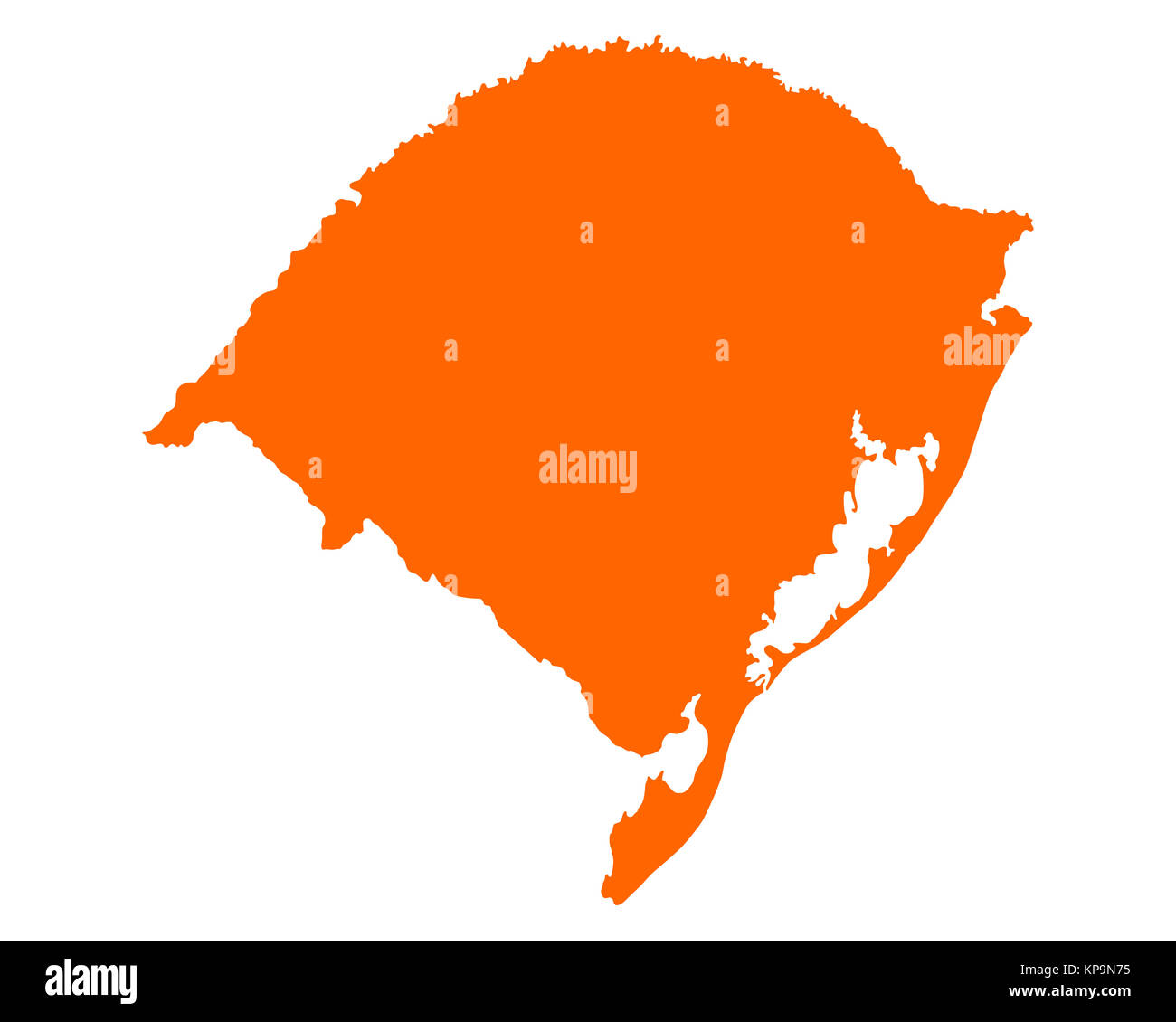 Karte von Rio Grande do Sul Stock Photo