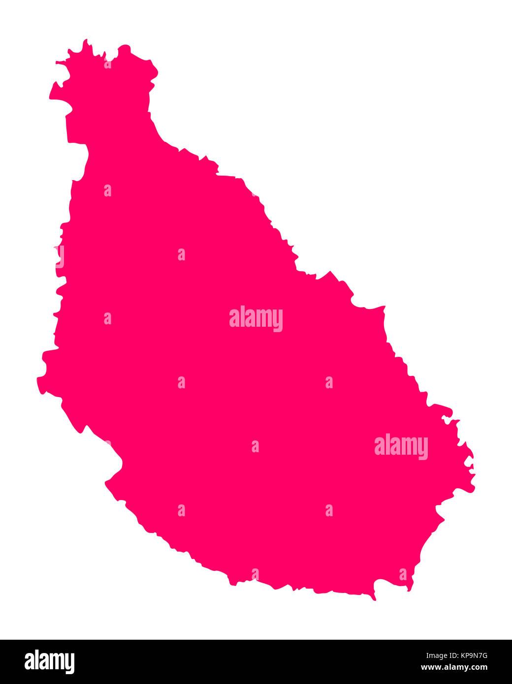Karte von Santiago - Stock Image
