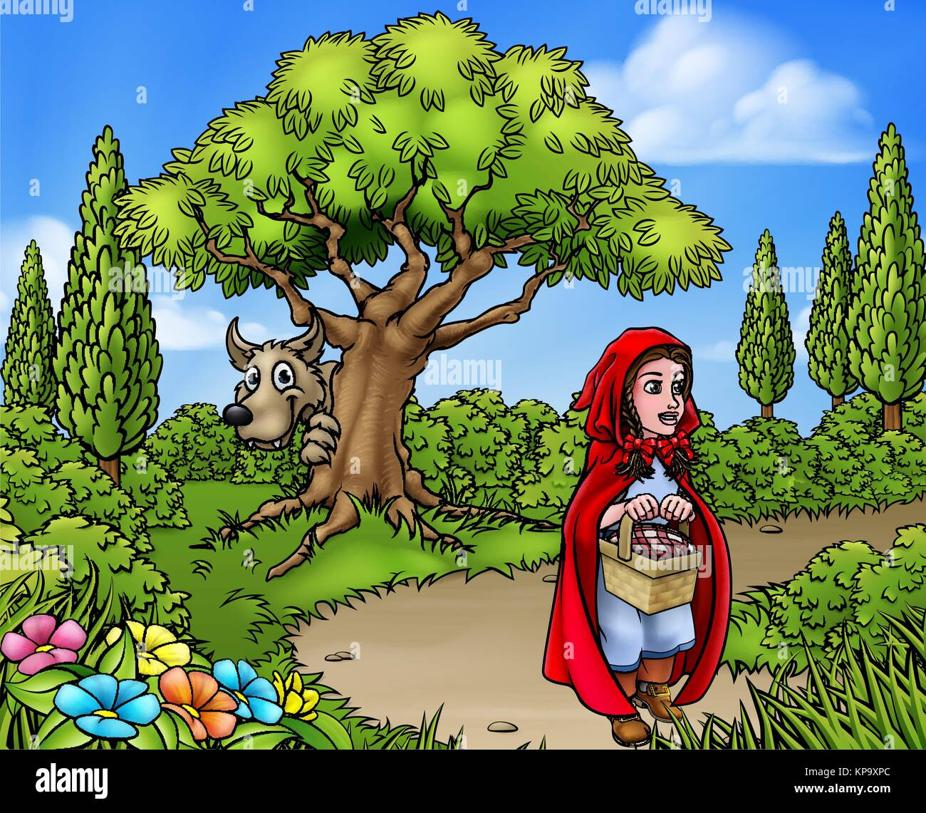 Big bad wolf cartoon stock photos big bad wolf cartoon - Hood cartoon wallpaper ...