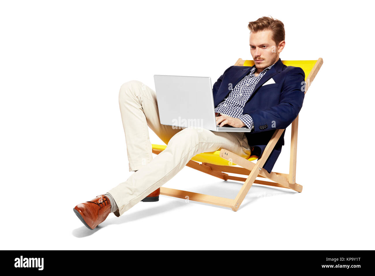 Man Working During Holidays - Stock Image