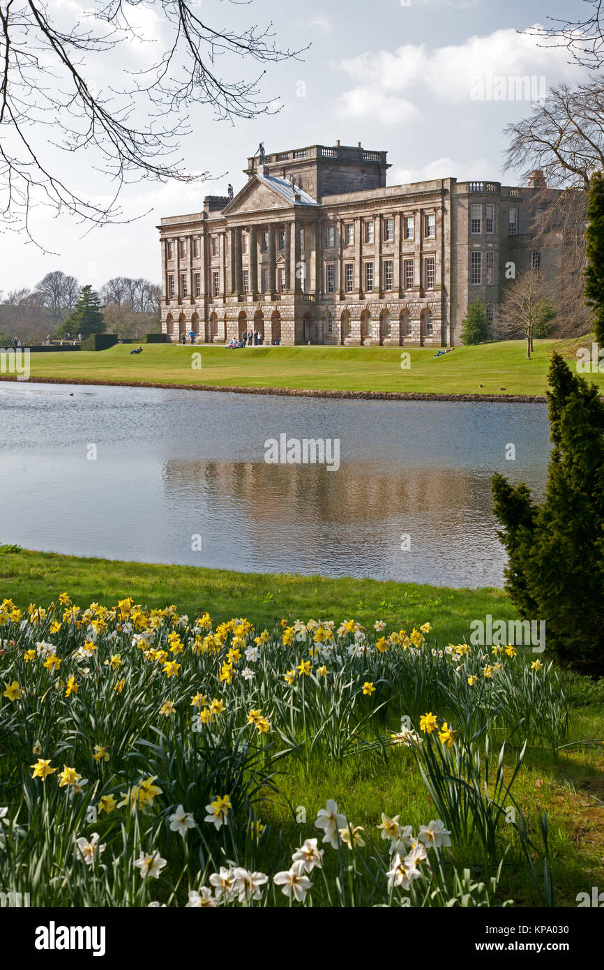 Lyme Park House, Disley, Cheshire, England. Managed by the National Trust, it was used in the BBC adaptation of - Stock Image