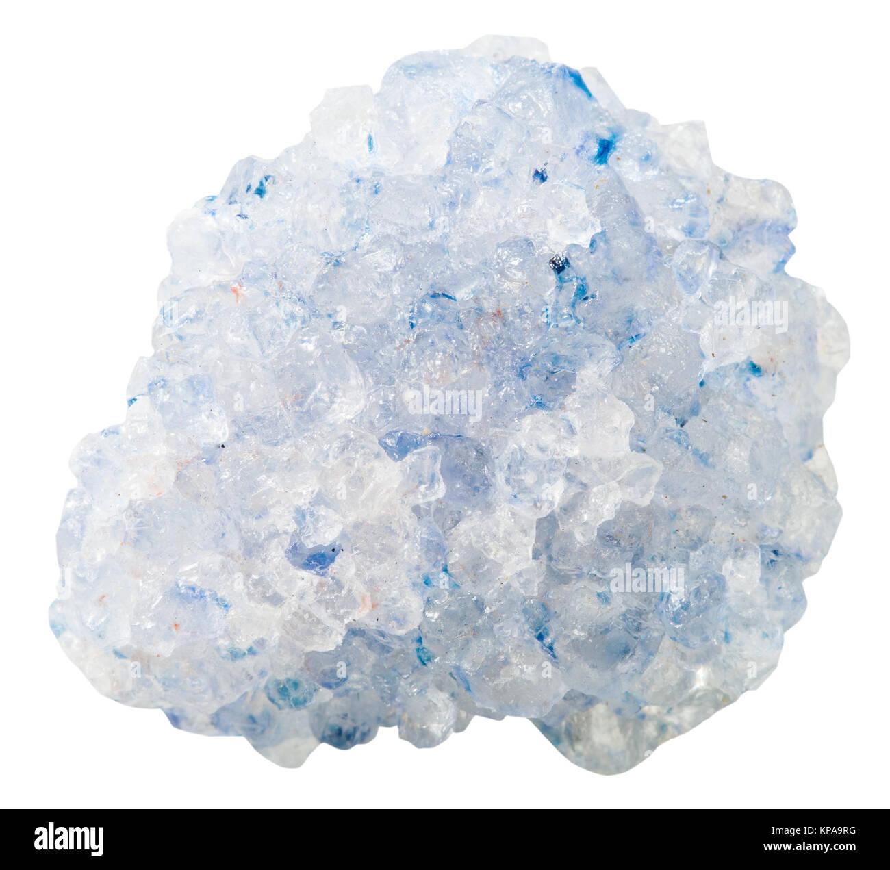 crystalline Celestine (celestite) mineral stone - Stock Image