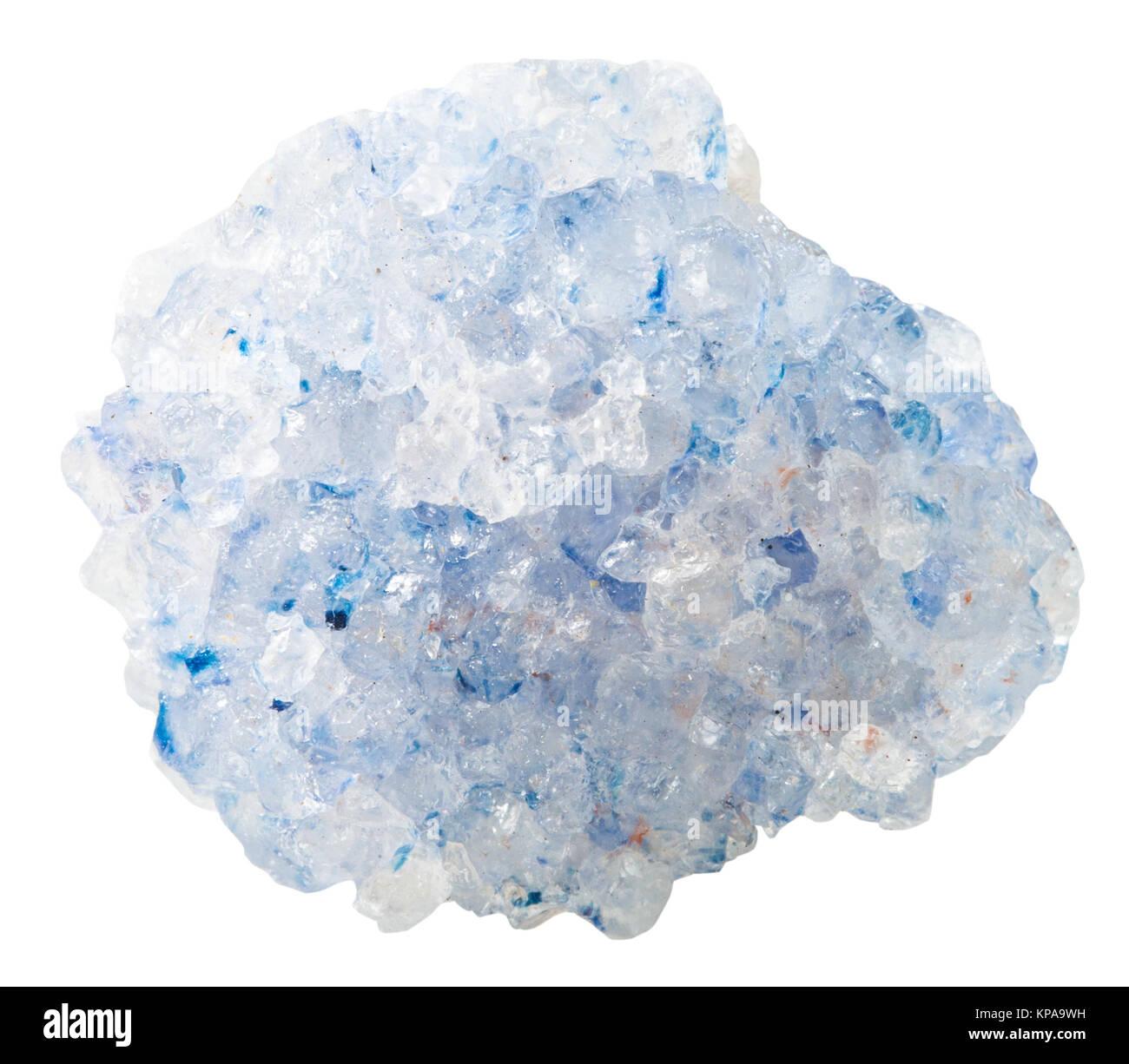 druse of blue Celestine (celestite) mineral stone - Stock Image