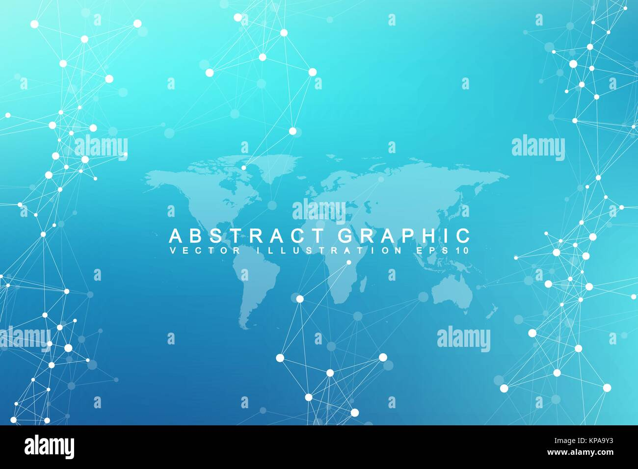 Virtual graphic abstract background communication with world map virtual graphic abstract background communication with world map perspective backdrop of depth digital data visualization vector illustration gumiabroncs Choice Image