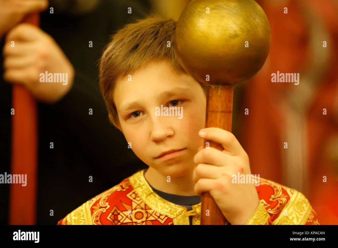 Belarus, Gomel city, celebrating the church holiday of Easter in St. Nicholas Monastery 01.05. 2016 year.Unidentified - Stock Image