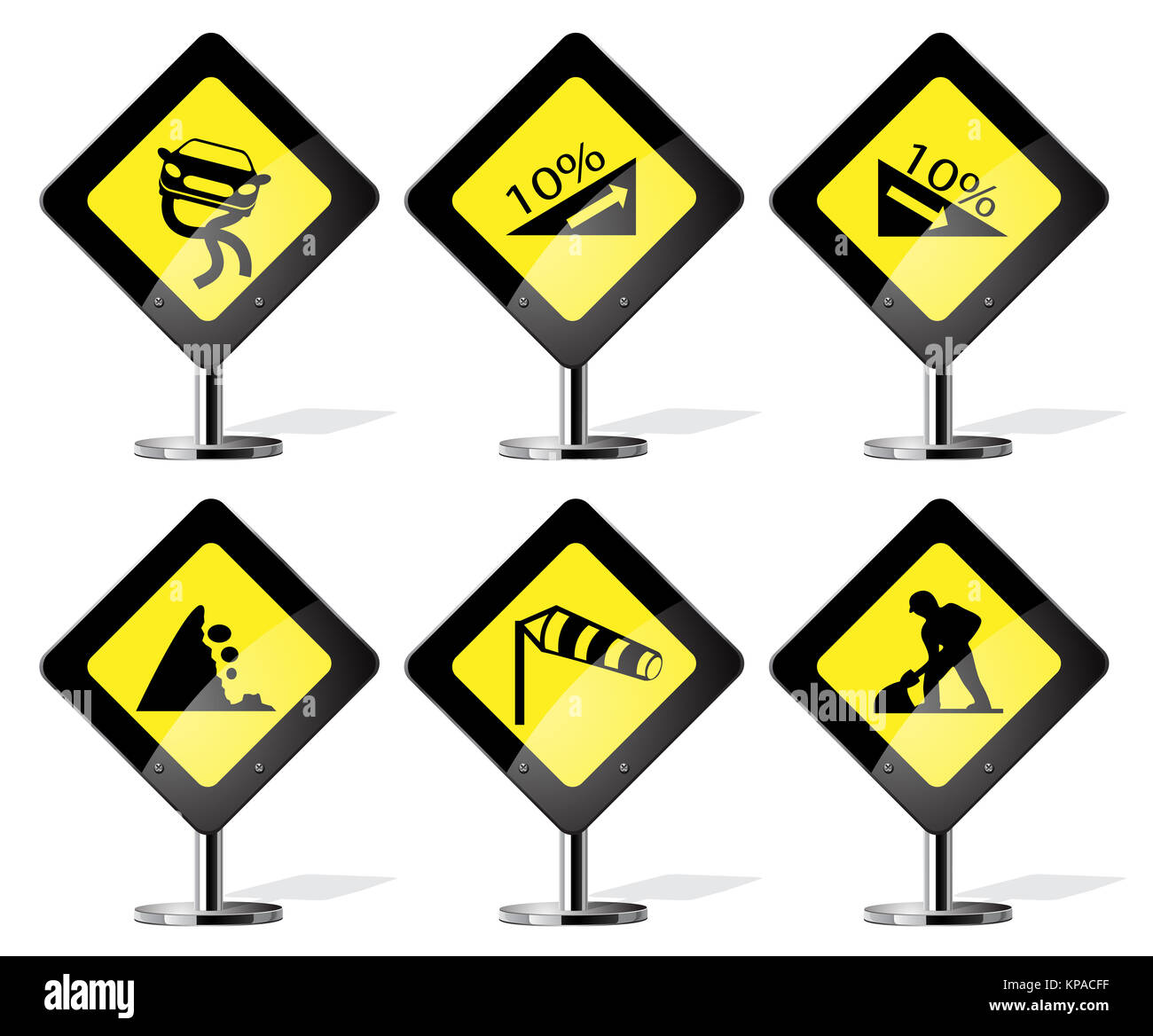 Road Sign Icons - Stock Image