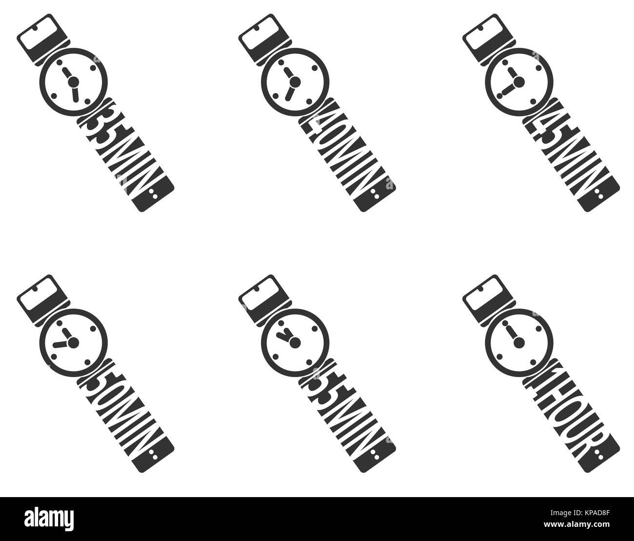 Timer Icon Set - Stock Image