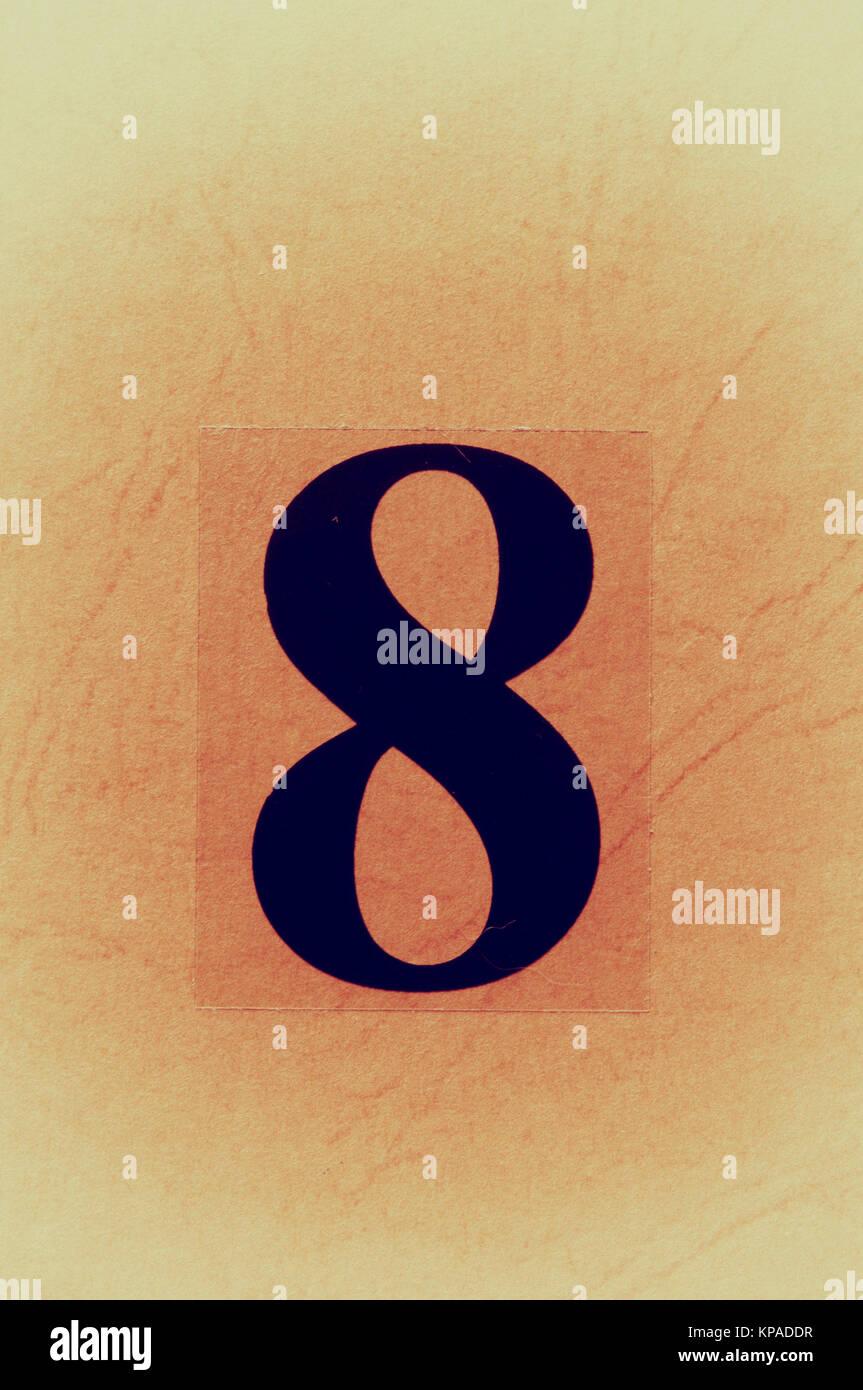 number eight - Stock Image