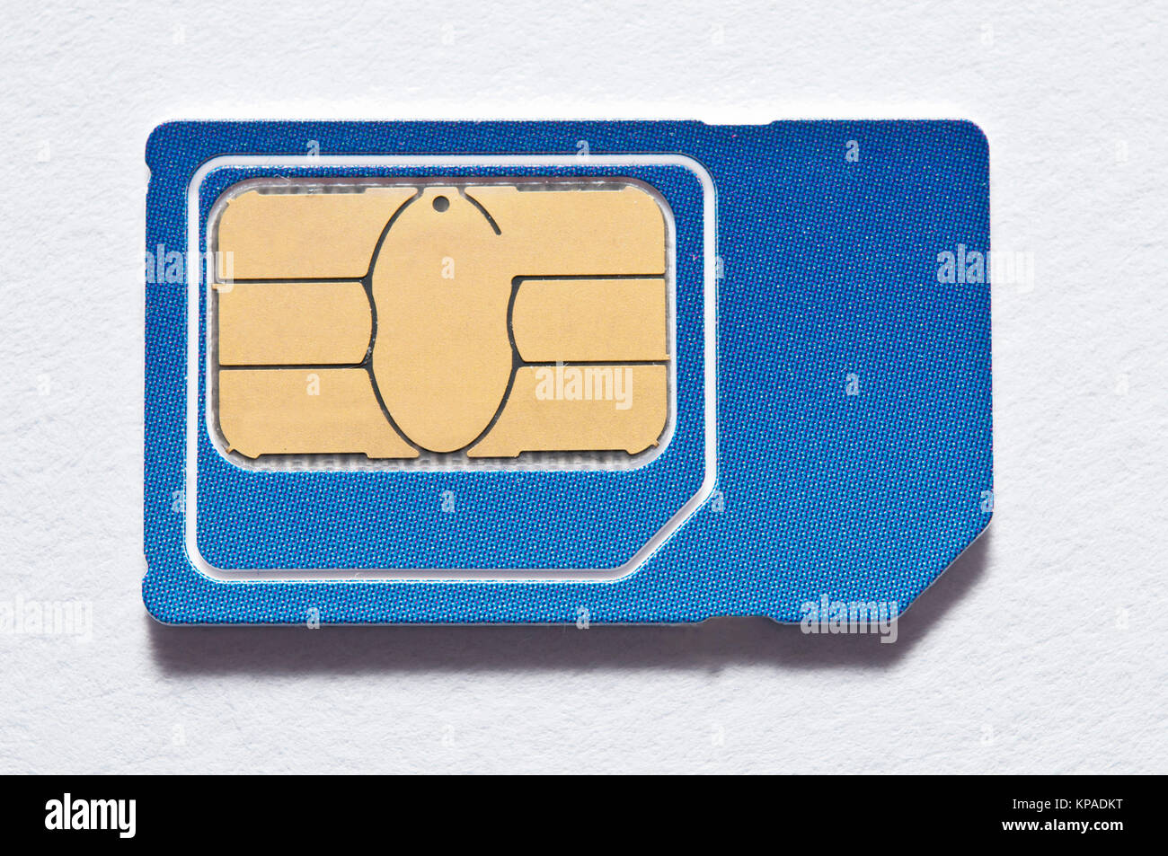 SIM card for mobile phone isolated - Stock Image
