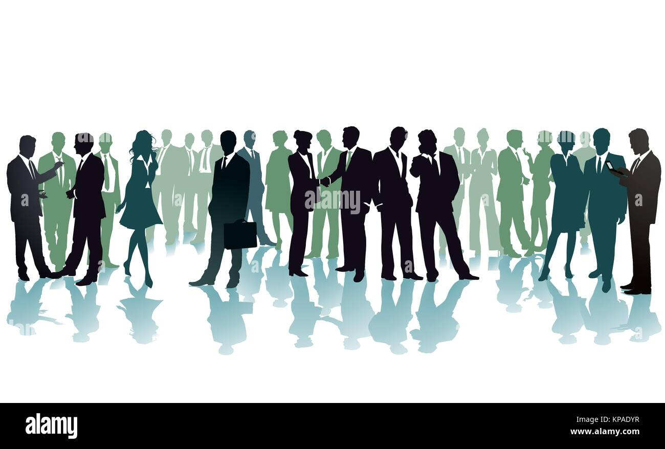 Gathering, business conference, illustration - Stock Vector