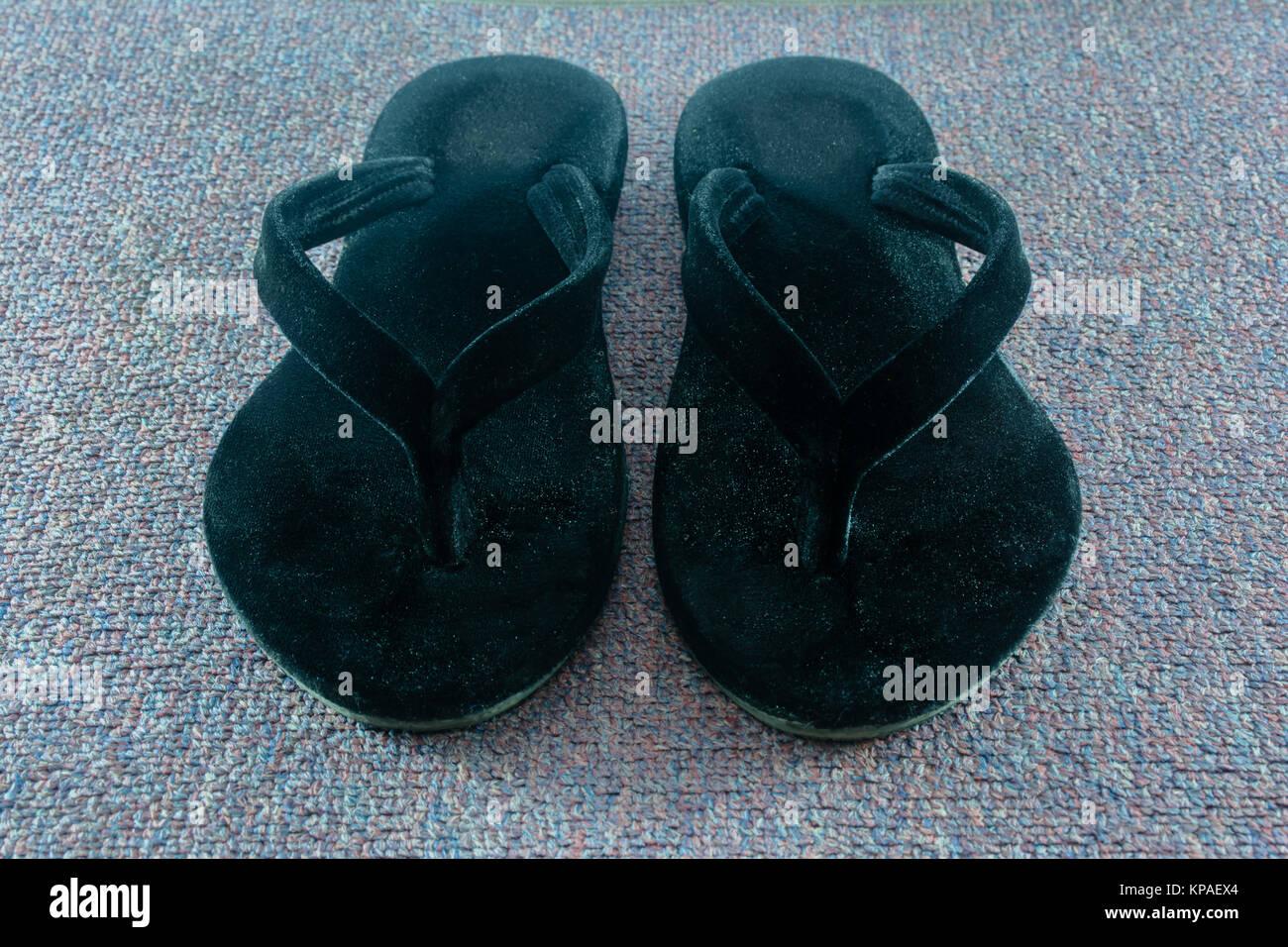 myanmar traditional foot wear Stock Photo