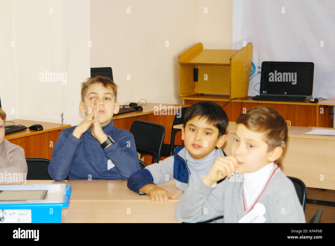 School kids in class - Stock Image