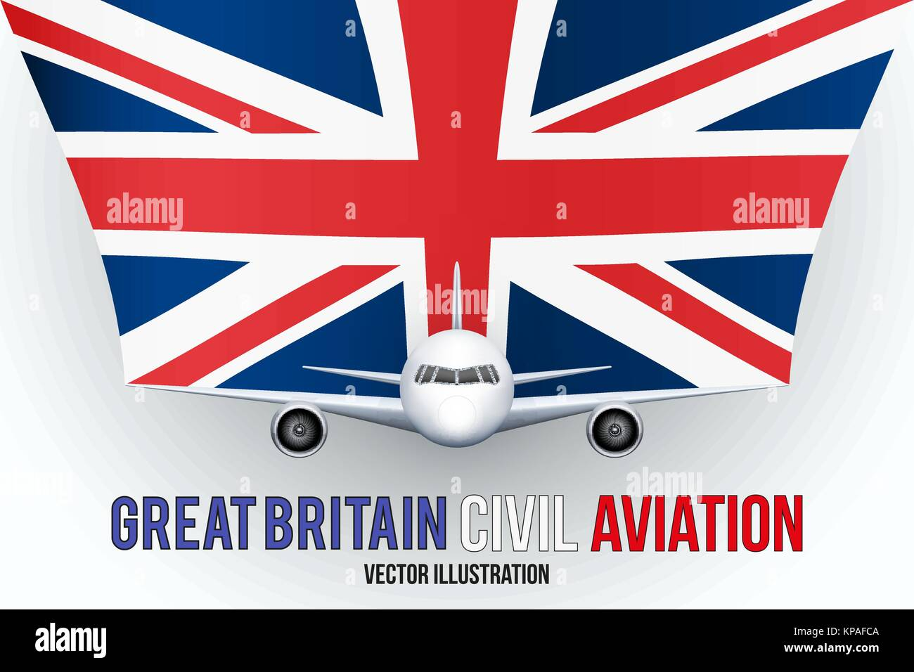 Civil Aircraft with flag - Stock Image
