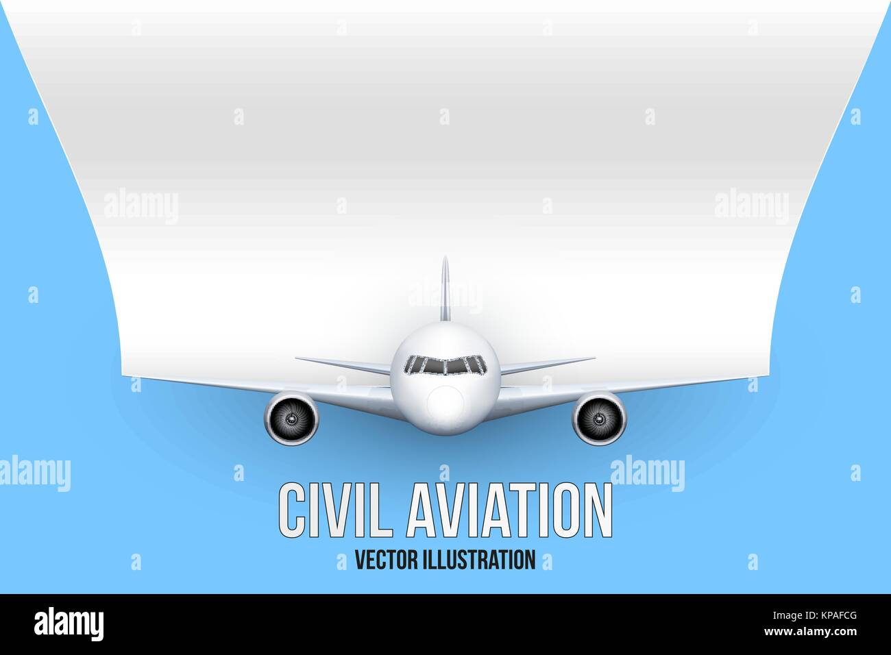 Civil Aircraft with space for text - Stock Image