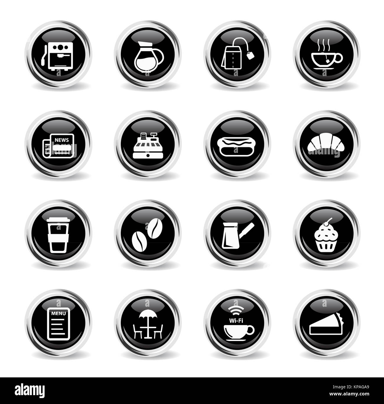 Cafe simply icons - Stock Image